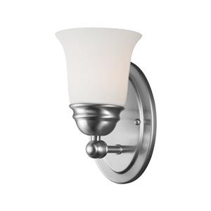 Thomas Lighting Bella Wall Sconce - 1-Light - 4.5-in x 10-in - Brushed Nickel