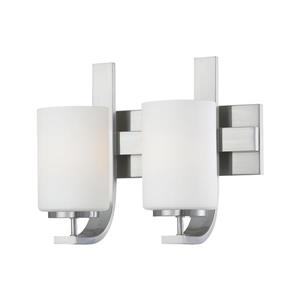 Thomas Lighting Pendenza Wall Sconce - 2-Light - 13-in x 10.75-in - Brushed Nickel