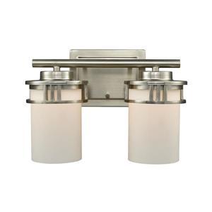 Thomas Lighting Ravendale Bathroom Vanity Light - 2-Light - 24.5-in - Brushed Nickel