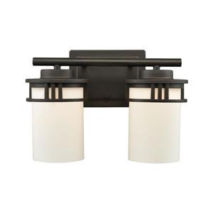 Thomas Lighting Ravendale Bathroom Vanity Light - 2-Light - 25-in - Oil Rubbed Bronze