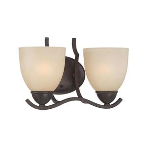 Thomas Lighting Triton Wall Sconce - 2-Light - 12-in x 10.5-in - Sable Bronze