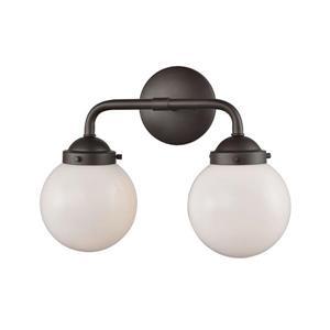 Thomas Lighting Beckett Bathroom Vanity Light - 2-Light - 16.5-in - Oil Rubbed Bronze