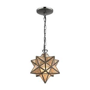 ELK Home Moravian Star Pendant Light - 1-Light - Antique Mercury