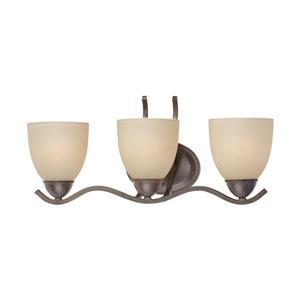 Thomas Lighting Triton Bathroom Vanity Light - 3-Light - 22.5-in - Sable Bronze