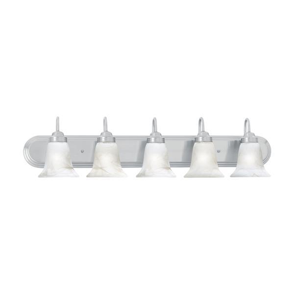 Thomas Lighting Homestead Bathroom Vanity Light - 5-Light - 40-in - Brushed Nickel
