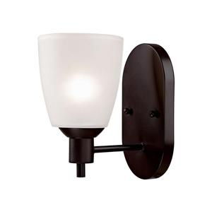 Thomas Lighting Jackson Wall Sconce - 1-Light - 8-in x 9.8-in - Oil Rubbed Bronze
