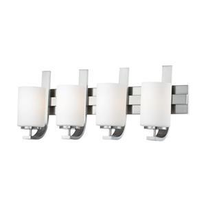 Thomas Lighting Pendenza Bathroom Vanity Light - 4-Light - 29.5-in - Brushed Nickel