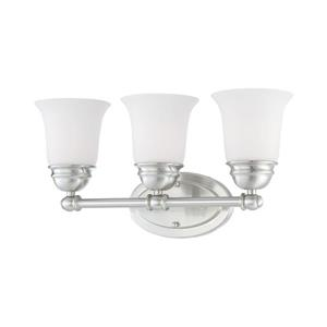 Thomas Lighting Bella Bathroom Vanity Light - 3-Light - 19.75-in - Brushed Nickel