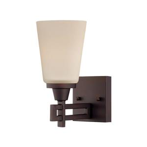 Thomas Lighting Wright Wall Sconce - 1-Light - 4.75-in x 9.84-in - Espresso
