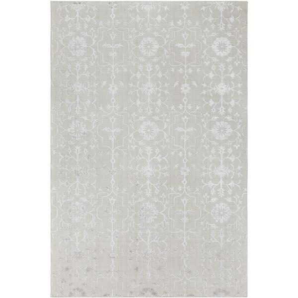 Surya Tidal Solid Area Rug - 6-ft x 9-ft - Rectangular - Light Gray