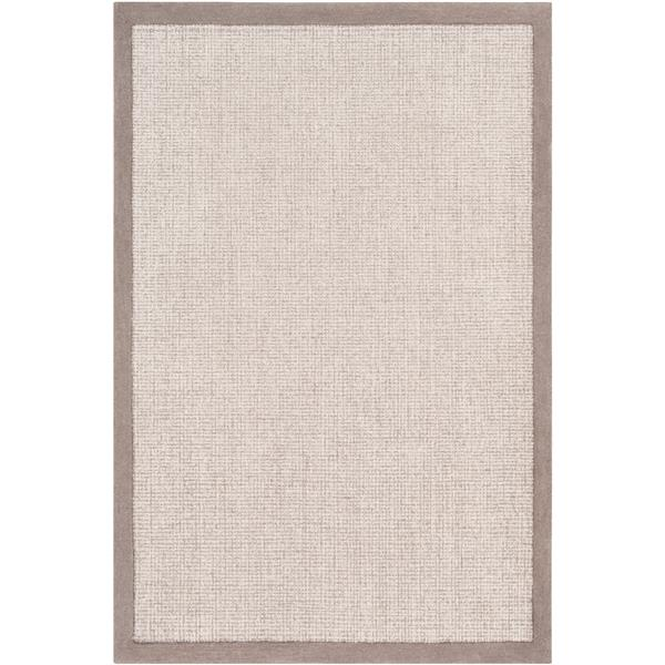Surya Siena Solid Area Rug - 6-ft x 9-ft - Rectangular - Medium Gray
