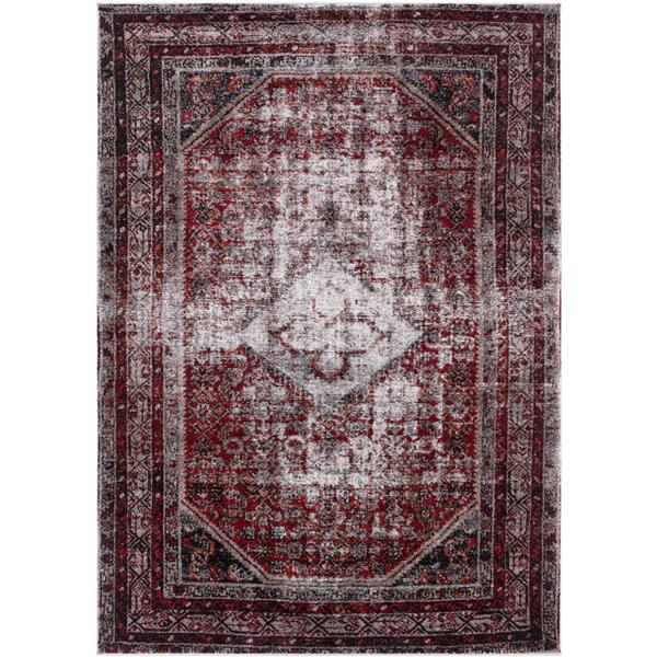 Surya Serapi Updated Traditional Area Rug - 7-ft 10-in x 10-ft 6-in - Rectangular - Burgundy
