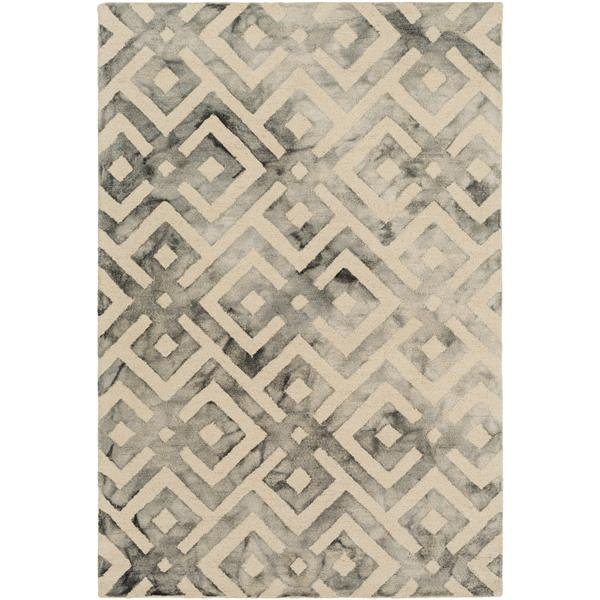 Surya Serafina Modern Area Rug - 6-ft x 9-ft - Rectangular - Cream
