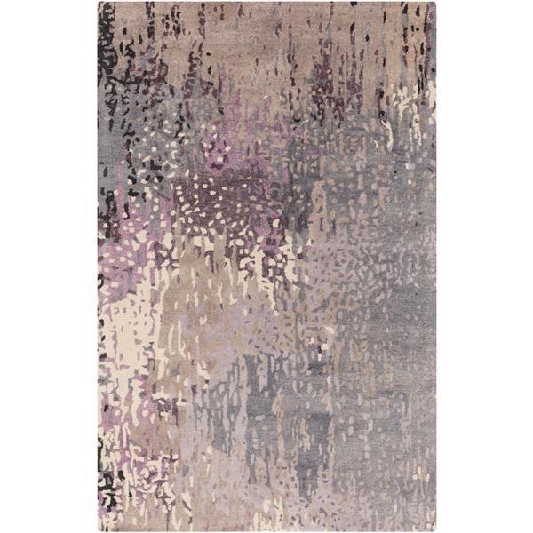 Surya Serenade Modern Area Rug - 8-ft x 11-ft - Rectangular - Dark Purple