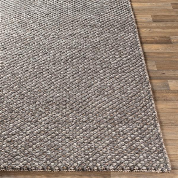 Surya Telluride Texture Area Rug - 8-ft x 10-ft - Rectangular - Dark Brown