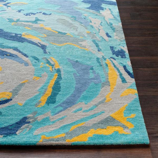 Surya Technicolor Modern Area Rug - 8-ft x 10-ft - Rectangular - Mint