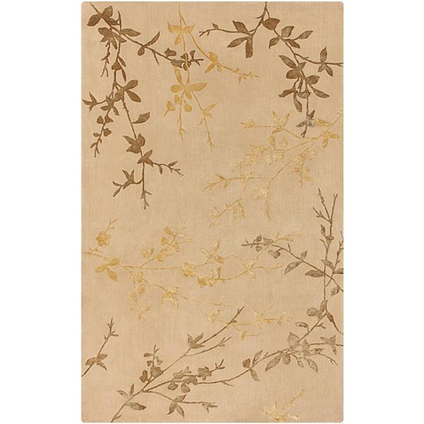 Surya Tamira Transitional Area Rug - 3-ft 6-in x 5-ft 6-in - Rectangular - Camel