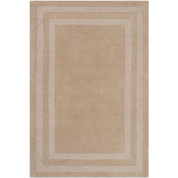 Surya Sorrento Solid Area Rug - 6-ft x 9-ft - Rectangular - Khaki