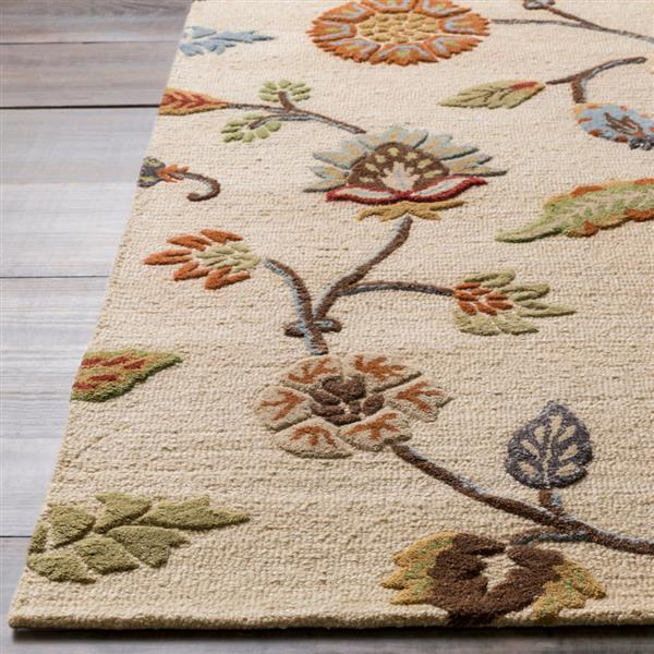 Surya Sprout Transitional Area Rug - 3-ft 3-in x 5-ft 3-in - Rectangular - Taupe