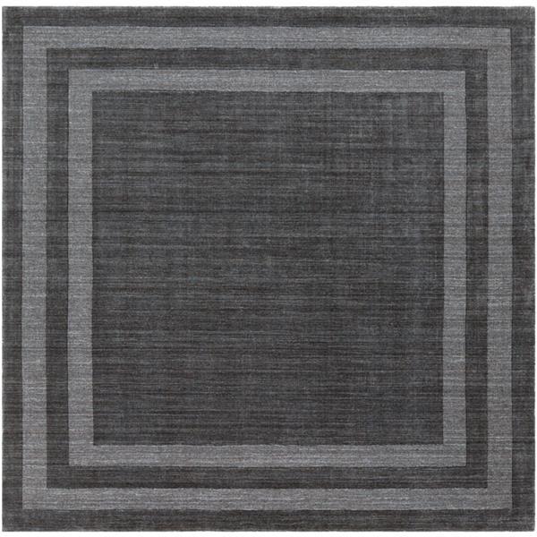 Surya Sorrento Solid Area Rug - 8-ft - Square - Charcoal