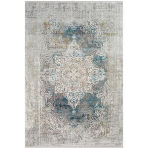 Surya Solar Updated Traditional Area Rug - 7-ft 6-in x 11-ft 2-in - Rectangular - Sky Blue/Gray