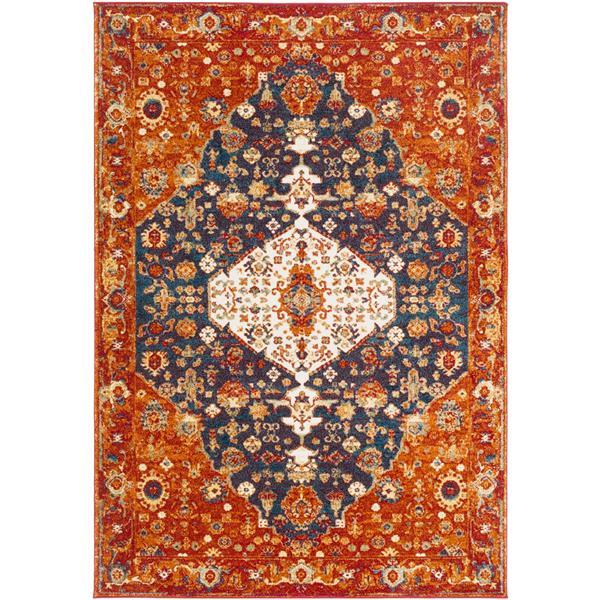 Surya Serapi Traditional Area Rug - 9-ft 3-in x 12-ft 6-in - Rectangular - Dark Orange/Burgundy
