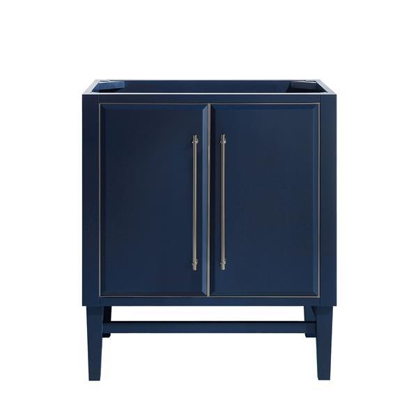 Avanity Mason 30-in Vanity - Navy Blue with Silver Trim