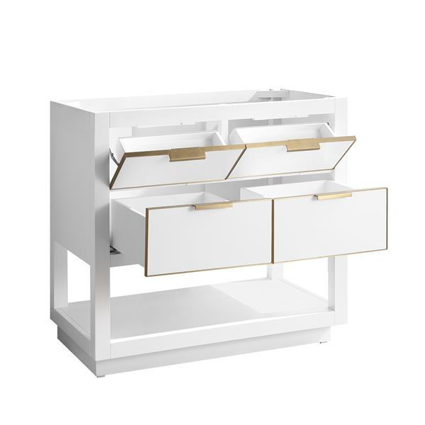 Avanity Allie 36-in Vanity - White with Gold Trim