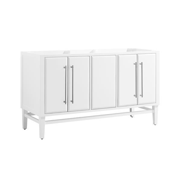 Avanity Mason 60-in Vanity - White with Silver Trim