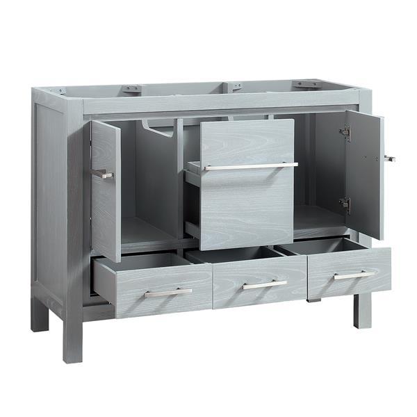 Azzuri Riley Vanity - 43-in - Engineered Stone Top - Gray