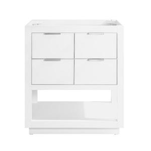 Avanity Allie 30-in Vanity - White with Silver Trim