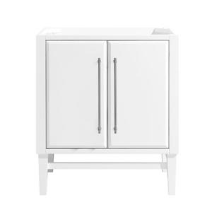 Avanity Mason 30-in Vanity - White with Silver Trim
