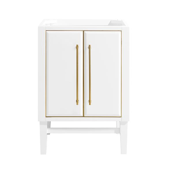 Avanity Mason 24-in Vanity - White with Gold Trim