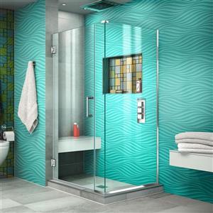 DreamLine Unidoor Plus Shower Enclosure - 34-in x 72-in - Chrome