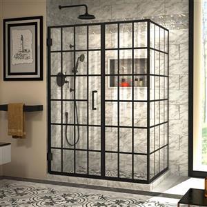 DreamLine Unidoor Toulon Shower Enclosure - 51.88-in x 72-in - Satin Black