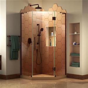 Cabine de douche Prism Plus de DreamLine, 38 po x 72 po, bronze huilé