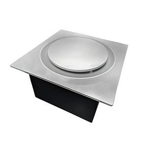 Ventillateur de salle bains G16 Series de Aero Pure, 80 PCM, 0,4 Sones, nickel satiné