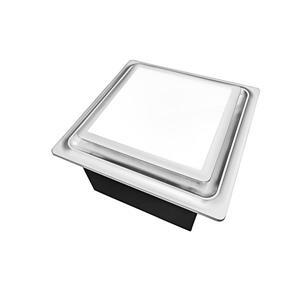 Ventillateur de salle bains L5 Series de Aero Pure, 80 PCM, 0,3 Sones, nickel satiné