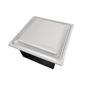 Ventillateur de salle bains G15 Series de Aero Pure, 80 PCM, 0,4 Sones, nickel satiné