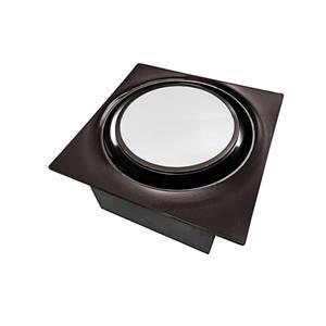 Ventillateur de salle bains L6 Series de Aero Pure, 80 PCM, 0,3 Sones, bronze huilé