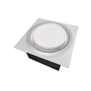 Ventillateur de salle bains L6 Series de Aero Pure, 80 PCM, 0,3 Sones, nickel satiné