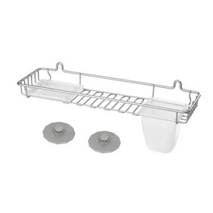 Metaltex Artic Large Shelf And Soap Holder - Metal - White