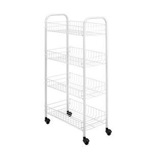 Metaltex Pisa Rolling Cart - 4-Tier - White