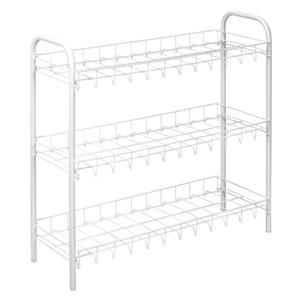 Metaltex Scarpa 3-Tier Shoe Rack - 23.23-in. - Metal - White