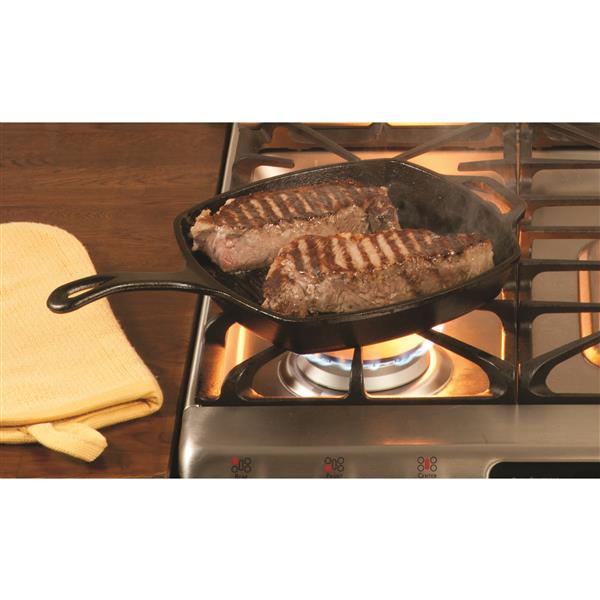 Lodge Cast Iron Grill Pan - 10.5-in.