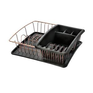 Metaltex Aquatex Plus Copper Dish Drainer - Plastic and Metal - Copper