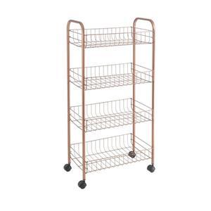 Metaltex Ascona Multipurpose Storage Cart - 4-Tier - Copper