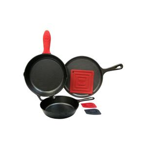 Lodge Essential Cast Iron Pan Set - 6-Piece