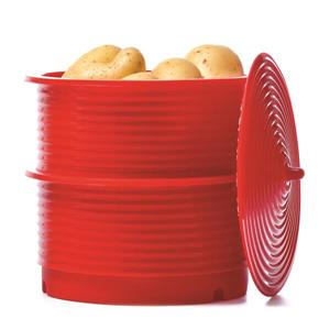 Siliconezone Pagoda Steamer Set - Red