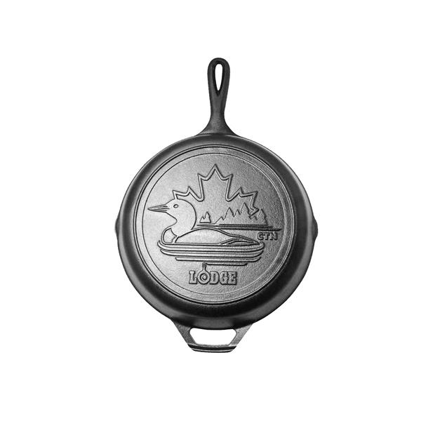 Lodge Canadiana Series Cast Iron Skillet with Loon Scene - 10.25-in.